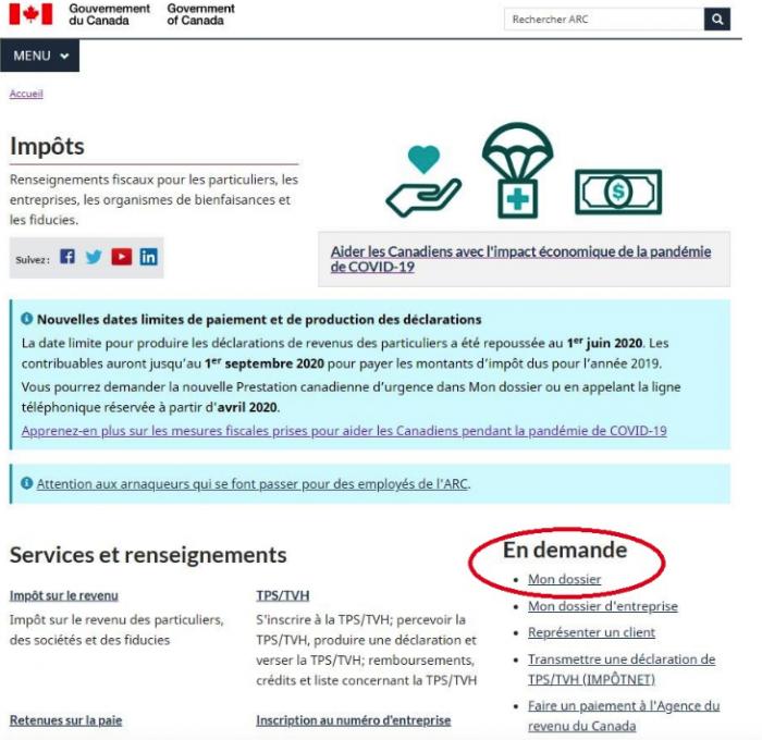 oficial website canada