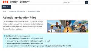 programa piloto CANADA